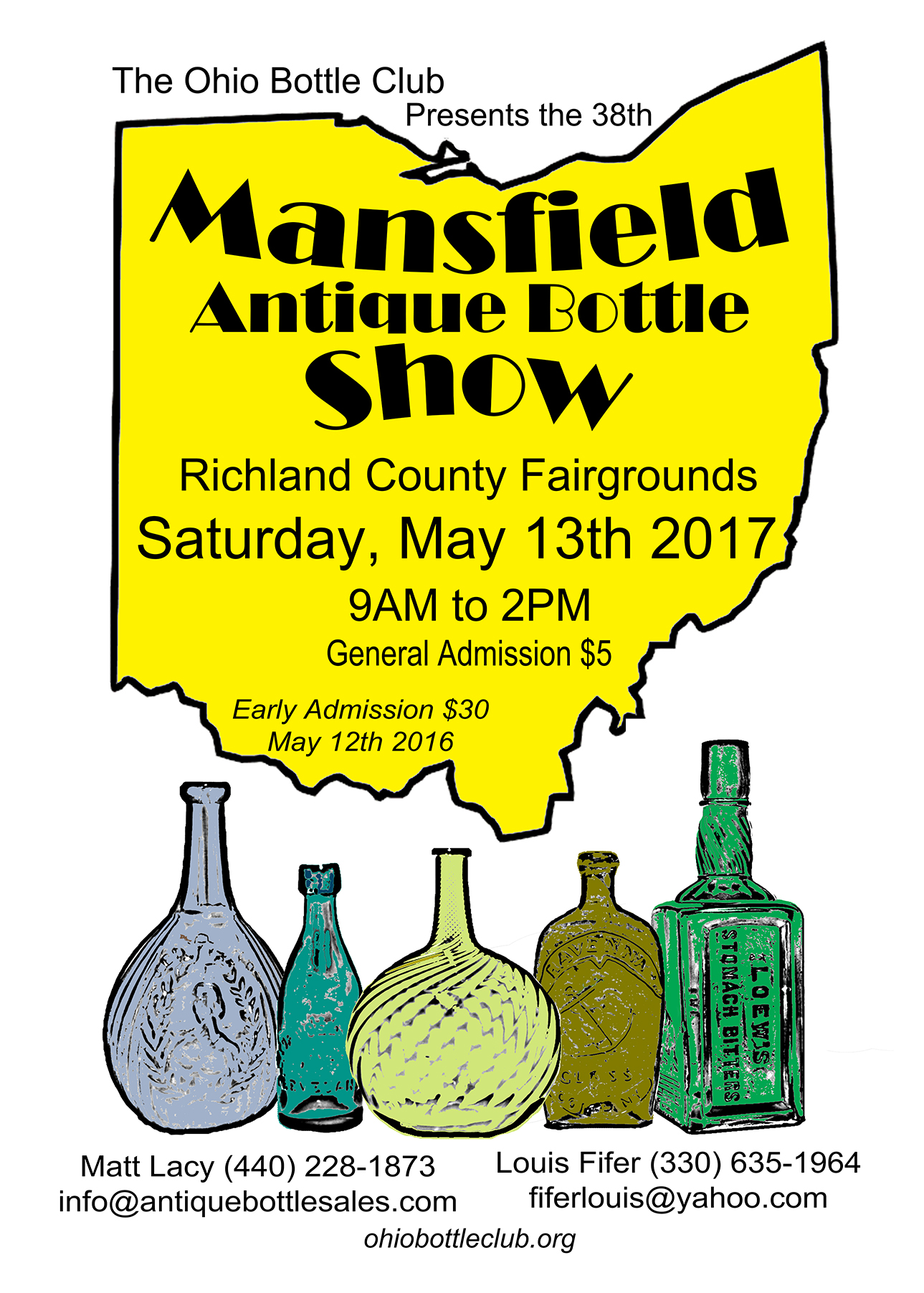 Ohio bottle show destination mansfield richland county for Mansfield arts and crafts show
