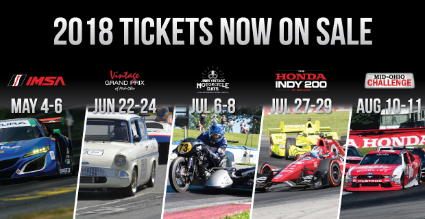2018 Mid Ohio race season banner