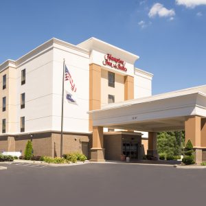 Exterior of Hampton Inn & Suites