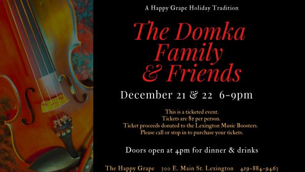 SOLD OUT – The Domka Family & Friends Live at The Happy Grape