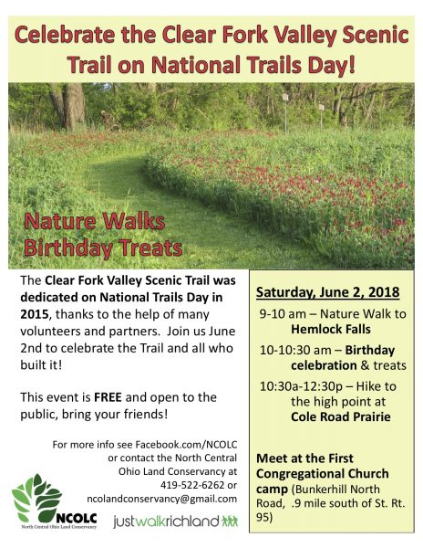 Clear Fork Valley Scenic Trail Birthday Celebration on #NationalTrailsDay