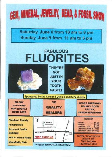 Richland Lithic & Lapidary Society – Gem, Mineral, Jewelry, Bead & Fossil Show