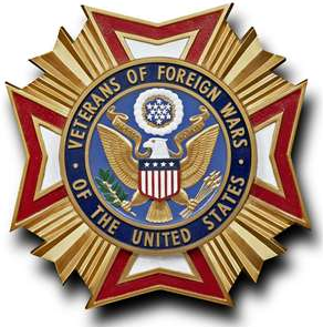 VFW badge that read Veterans of Foreign Wars of the United States
