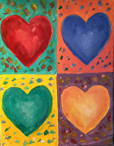 Kids and Canvas – Warm & Cool Hearts