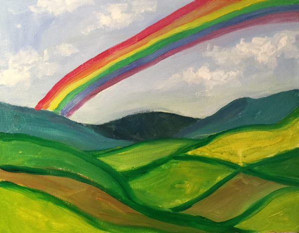 Kids and Canvas – Hills & Rainbows