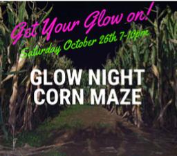 Glow Night Corn Maze & Scary Hollow Hayrides at Barnyard Park