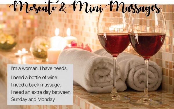 Moscato & Mini Massages at Fox Winery