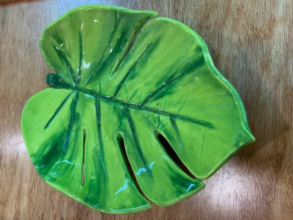 Cork and Clay-Hosta Leaf Platters at Mansfield Art Center