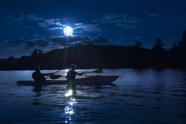 Moonlight Kayak at Pleasant Hill Lake