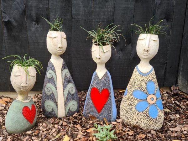 The Pottery People-Succulents at Mansfield Art Center