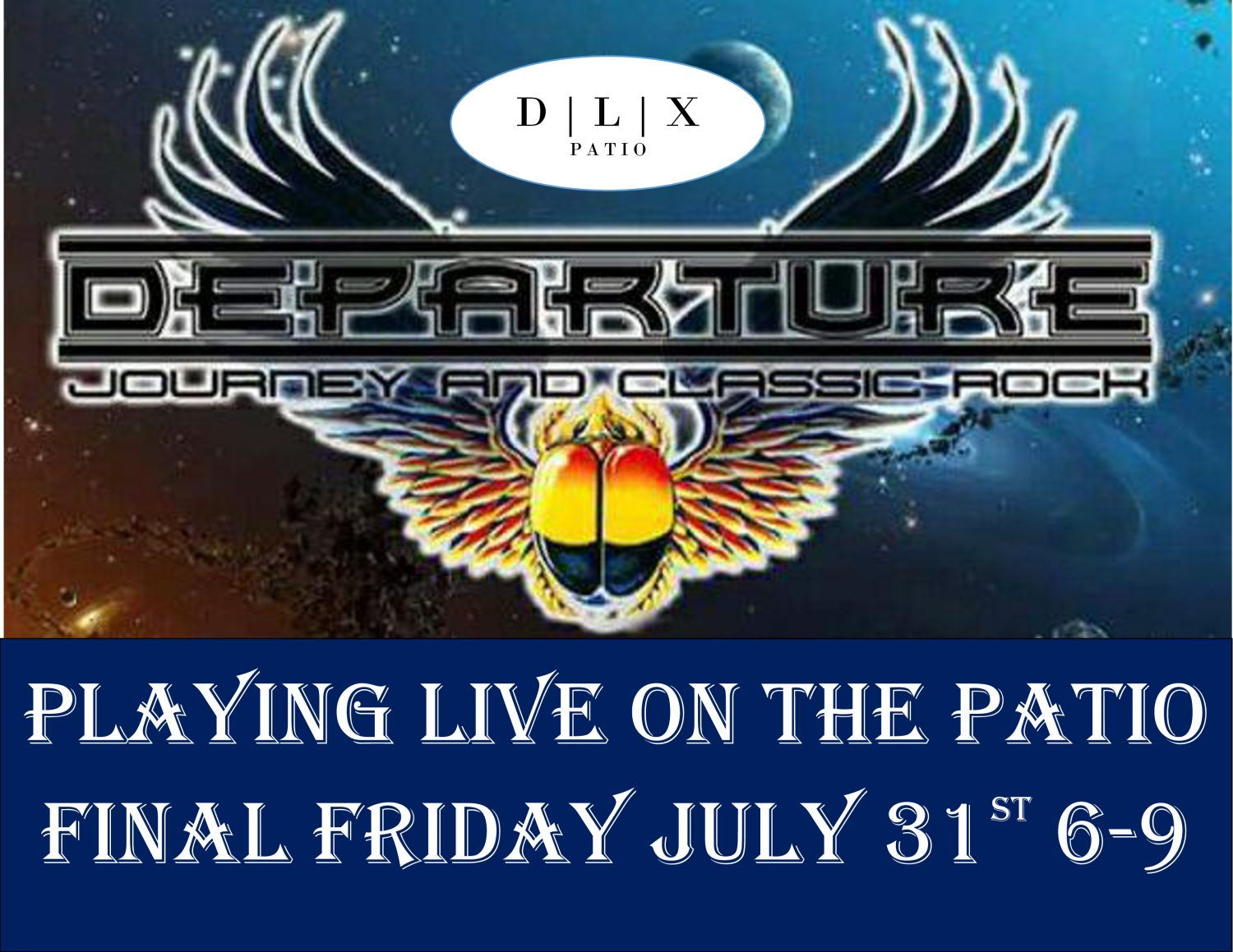 DEPARTURE Playing LIVE @ DLX | Dan Lew Exchange Final Friday: July Edition