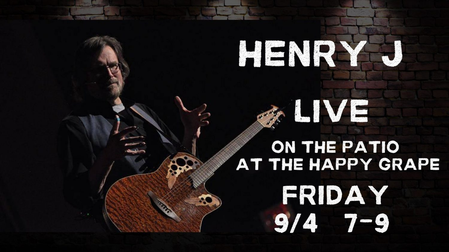 Henry J live at The Happy Grape