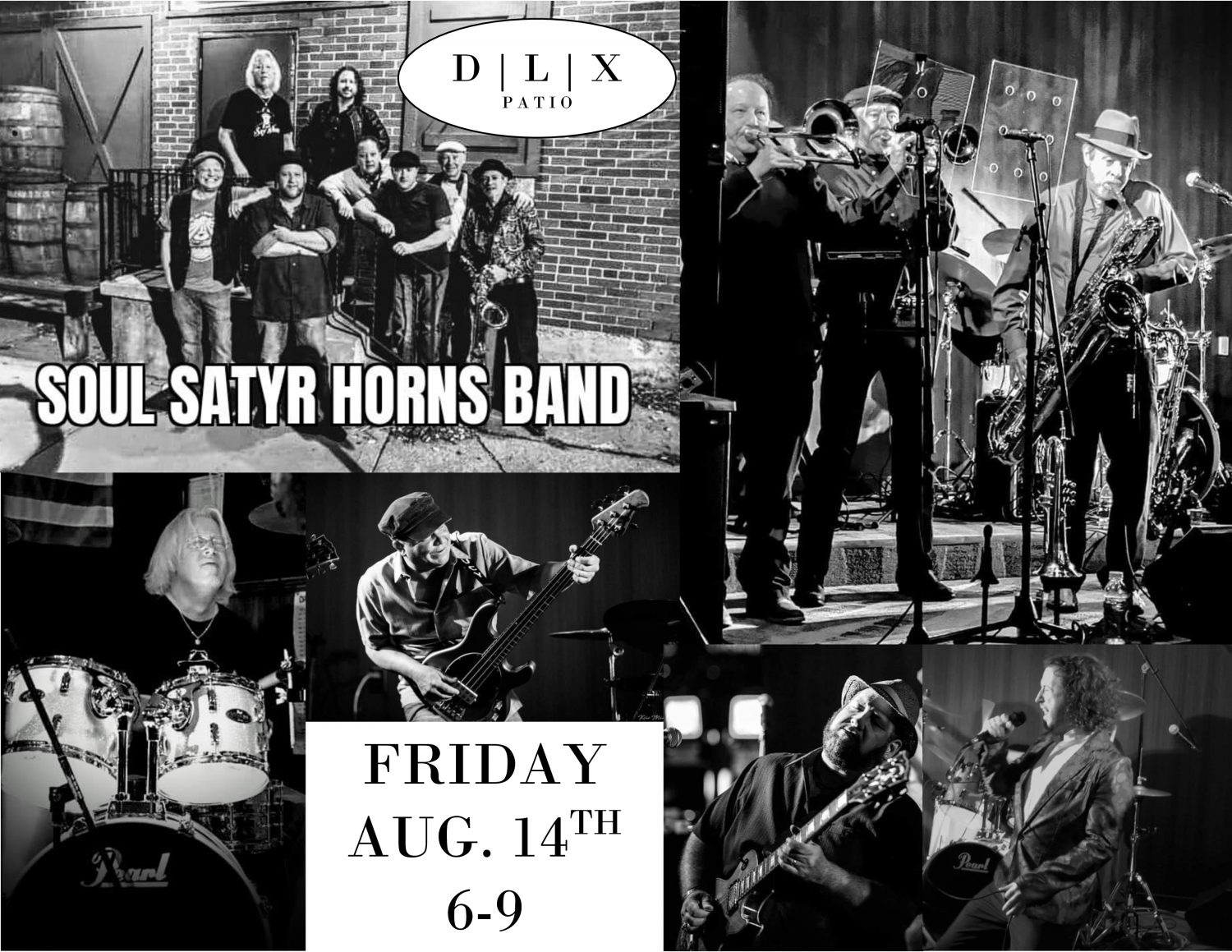 SOUL SATYR HORNS BAND Playing LIVE @ DLX | Dan Lew Exchange
