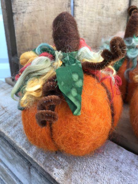 Pumpkin Needle Felting Demonstration