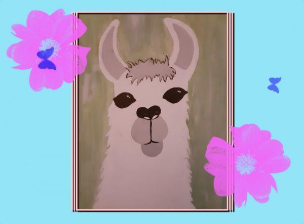 Llama Mia Acrylic Painting