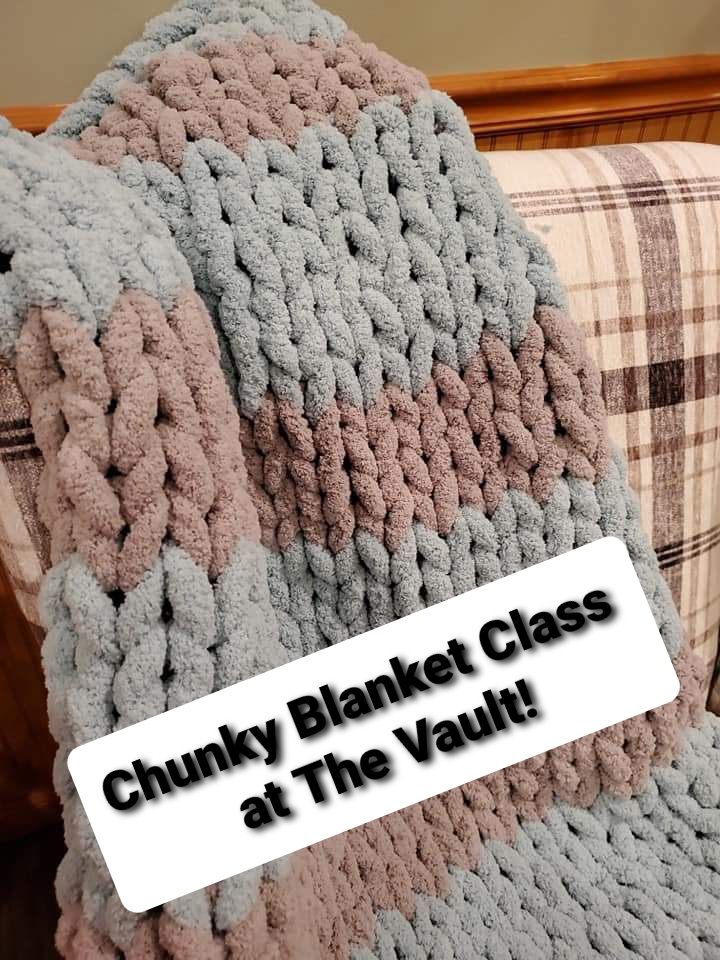 Chunky Blanket Class at the Vault Wine Bar