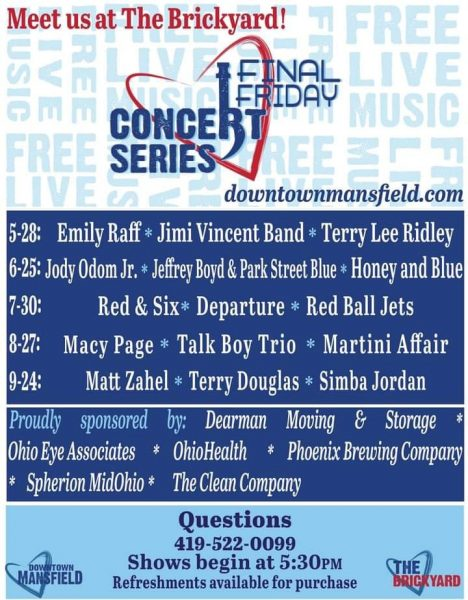 Final Friday Concert Series in The Brickyard